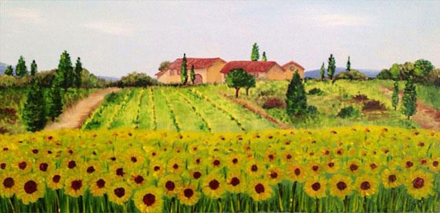 Carmelo scuderi quadri ad olio ed acquerello i miei for Quadri di fiori ad olio