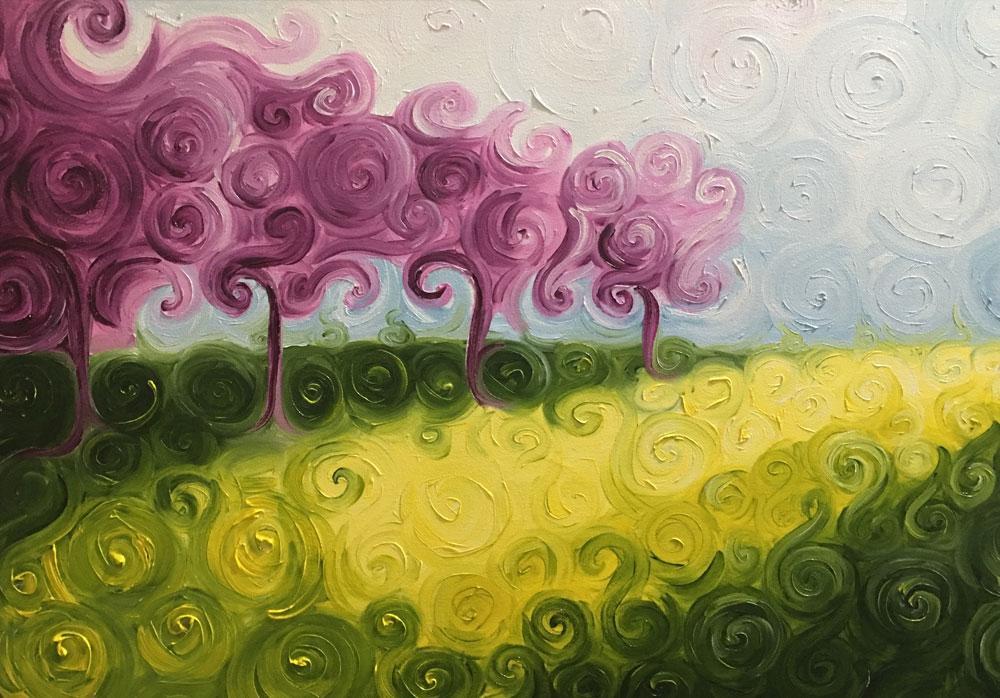 Carmelo scuderi quadri ad olio ed acquerello fiori di for Quadri ad olio con fiori