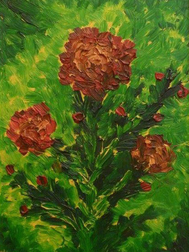 Carmelo scuderi quadri ad olio ed acquerello fiori i for Fiori ad olio